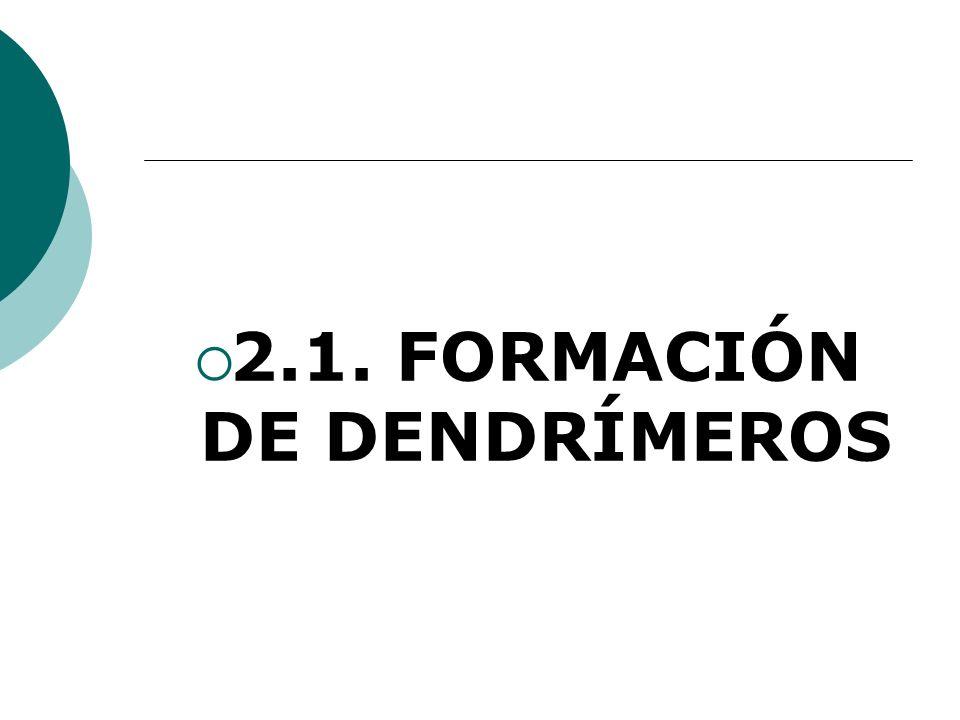 2.1. FORMACIÓN DE DENDRÍMEROS