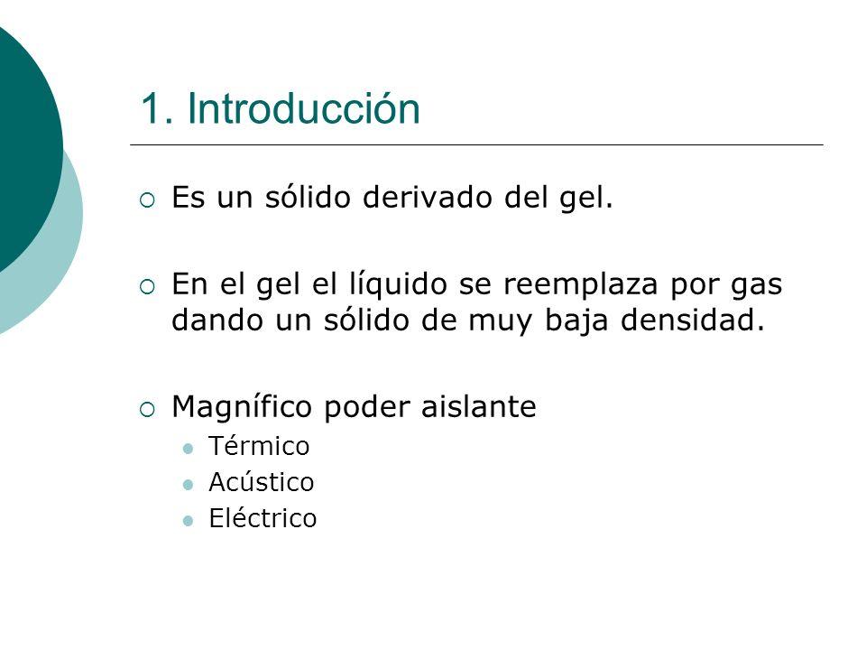 1.Introducción Es un sólido derivado del gel.