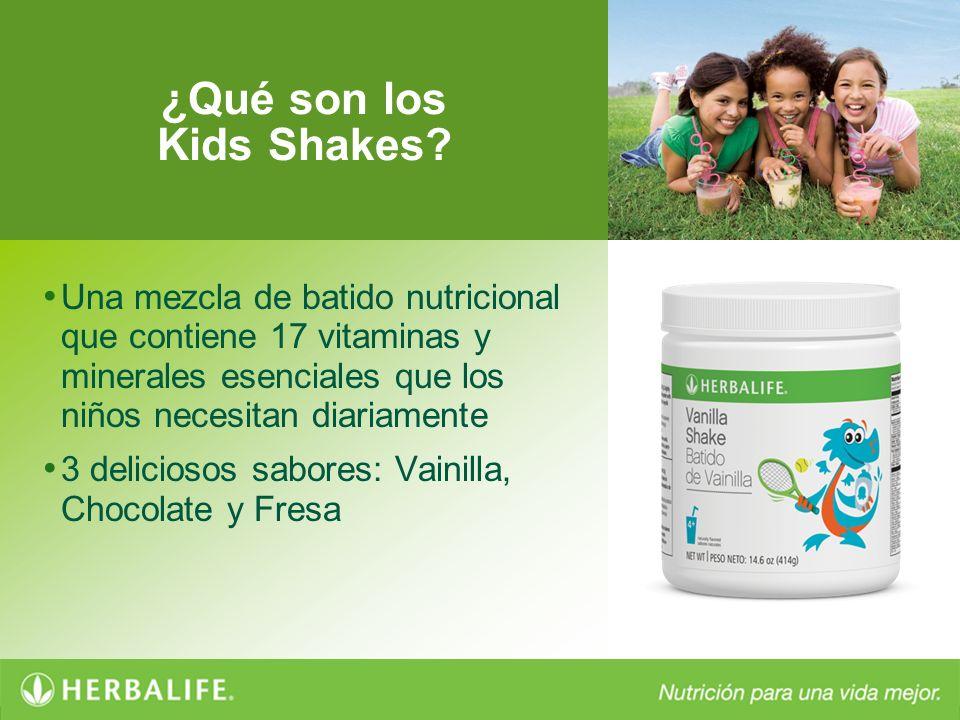 ¿Qué son los Kids Shakes? Una mezcla de batido nutricional que contiene 17 vitaminas y minerales esenciales que los niños necesitan diariamente 3 deli
