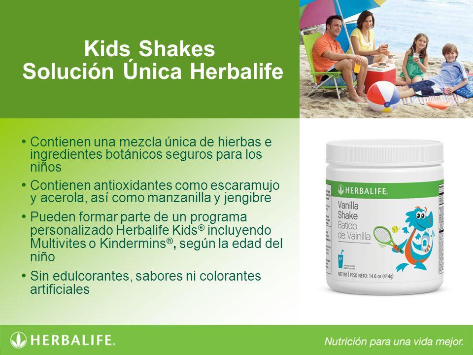 Kids Shakes Solución Única Herbalife Contienen una mezcla única de hierbas e ingredientes botánicos seguros para los niños Contienen antioxidantes com
