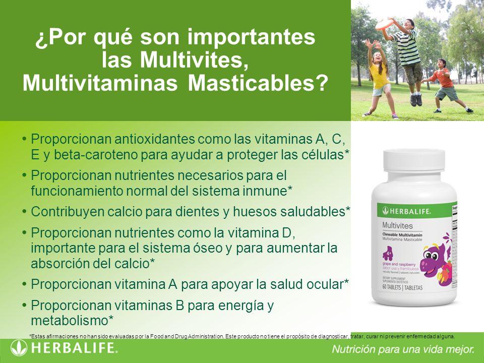 Proporcionan antioxidantes como las vitaminas A, C, E y beta-caroteno para ayudar a proteger las células* Proporcionan nutrientes necesarios para el f
