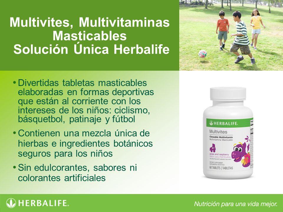Multivites, Multivitaminas Masticables Solución Única Herbalife Divertidas tabletas masticables elaboradas en formas deportivas que están al corriente
