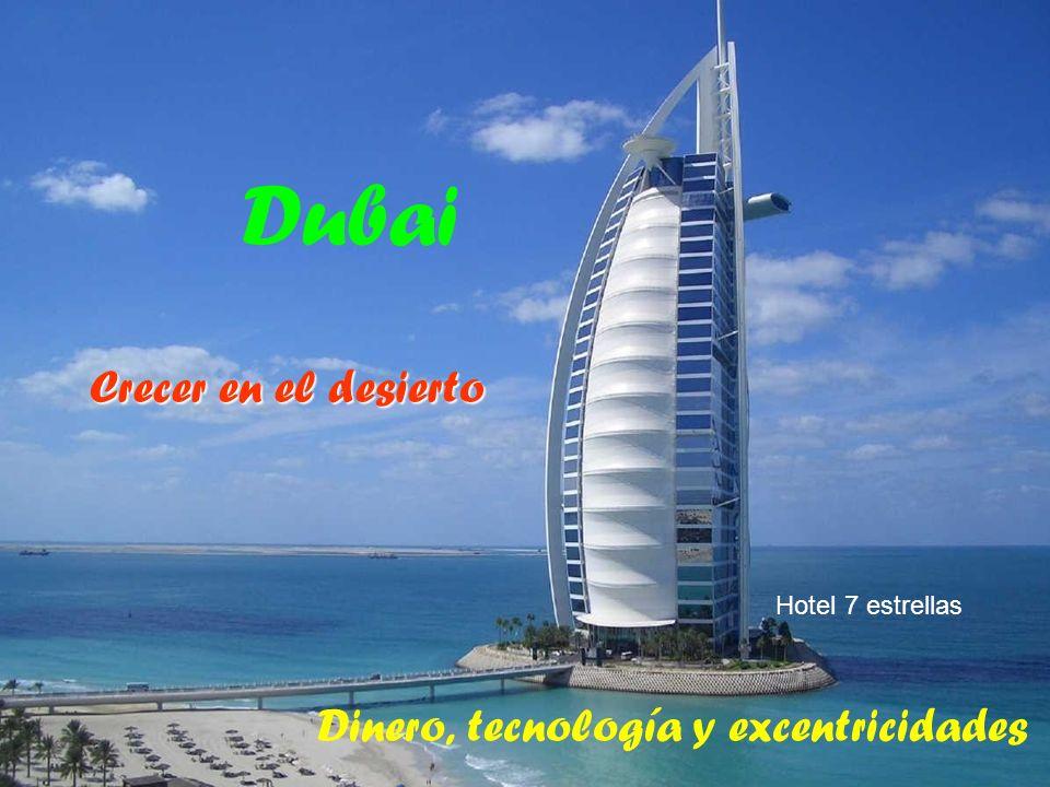 Dinero, tecnología y excentricidades Dubai Crecer en el desierto Hotel 7 estrellas