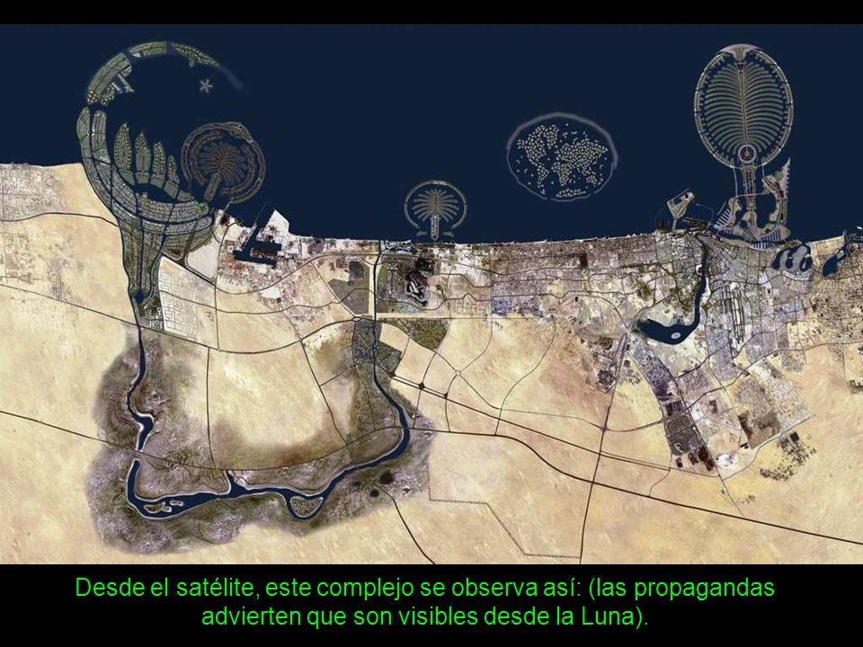 Un archipiélago artificial de 300 islas que imita los continentes del mundo. Ya efectuaron compras el campeón de Fórmula 1, Miguel Schumacher y el can