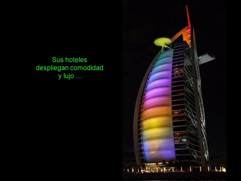 Hay un edificio torre giratorio, con 200 departamentos. Su mecanismo usa energía solar para girar 360º en una semana. Dancing Towers (Torres que danza