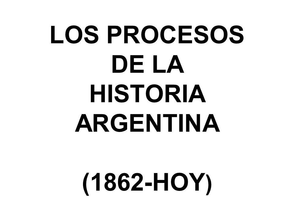 LOS PROCESOS DE LA HISTORIA ARGENTINA (1862-HOY )