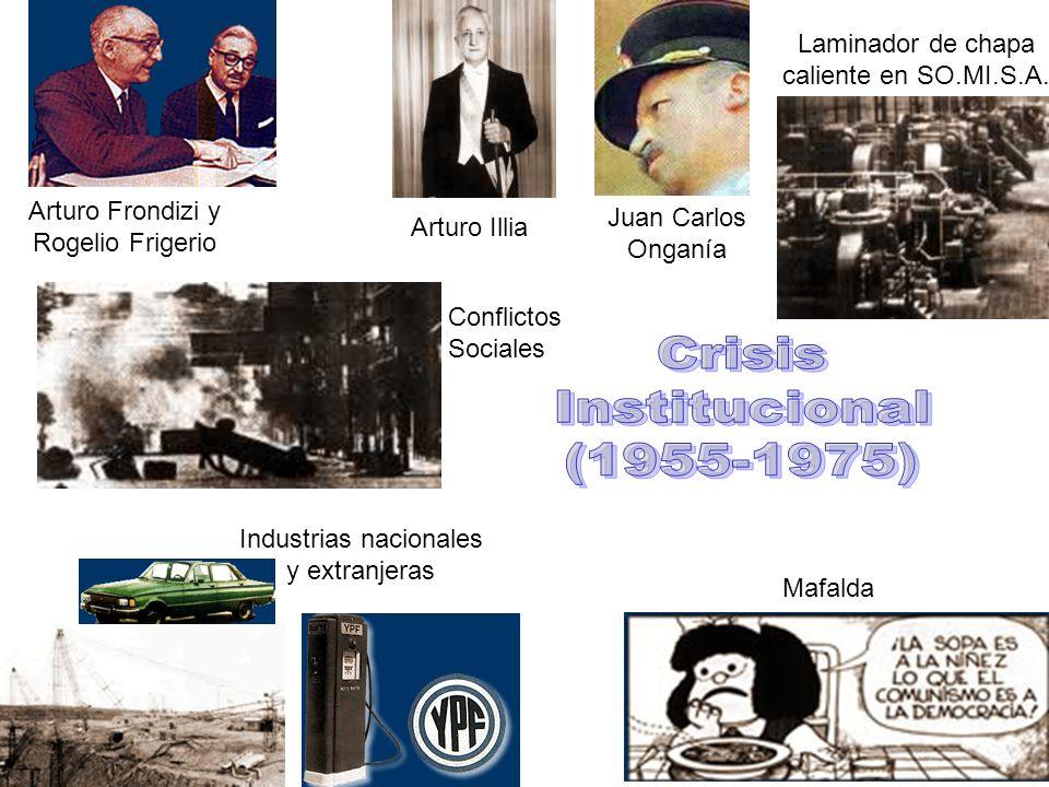 Laminador de chapa caliente en SO.MI.S.A. Arturo Frondizi y Rogelio Frigerio Arturo Illia Mafalda Conflictos Sociales Industrias nacionales y extranje