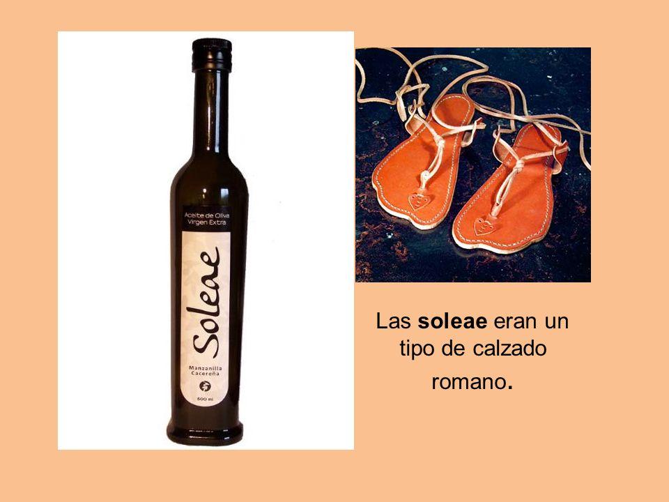 Las soleae eran un tipo de calzado romano.