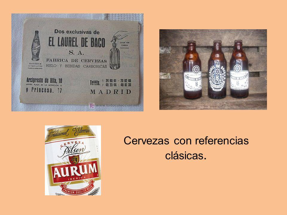 Cervezas con referencias clásicas.