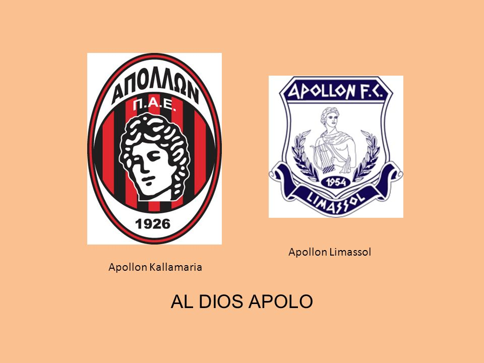 Apollon Kallamaria Apollon Limassol AL DIOS APOLO