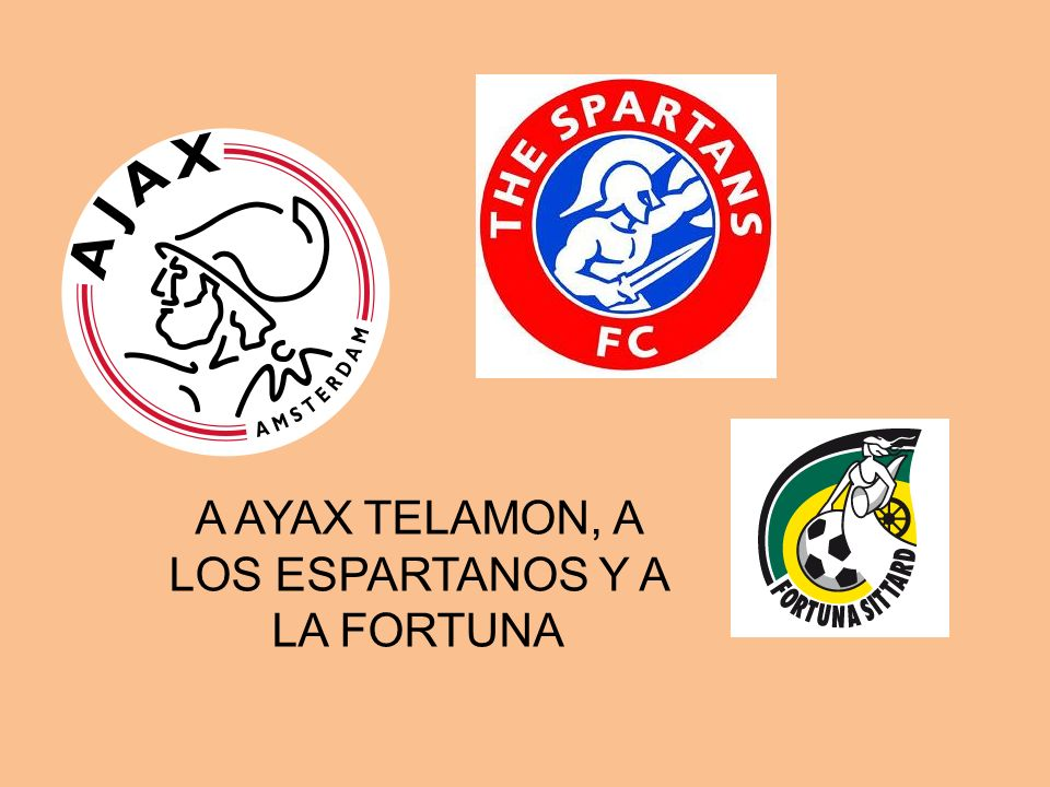 A AYAX TELAMON, A LOS ESPARTANOS Y A LA FORTUNA