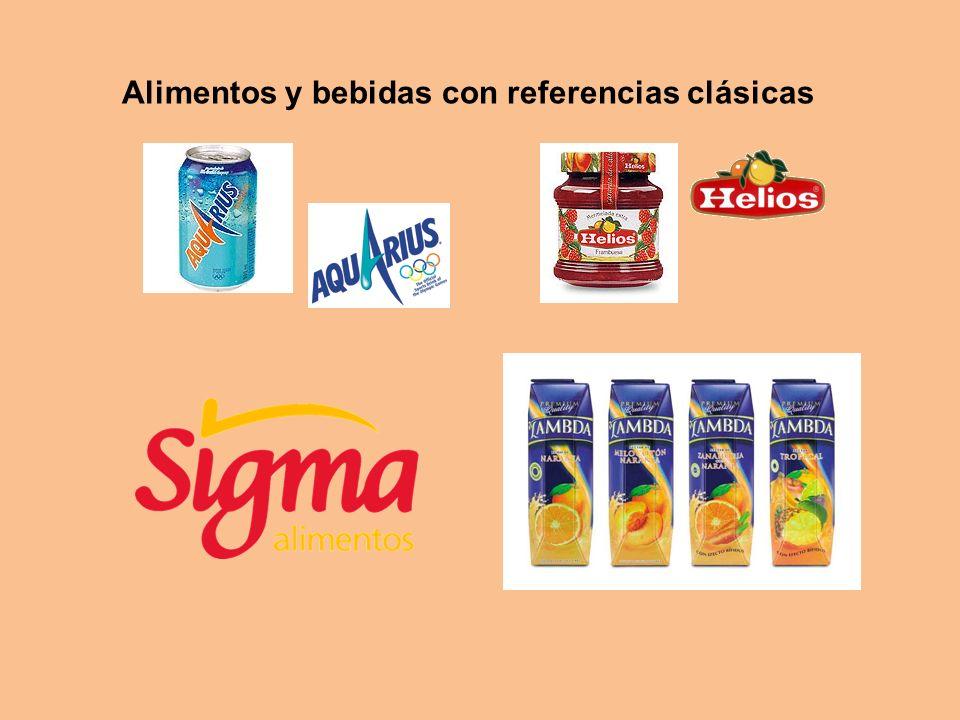 Alimentos y bebidas con referencias clásicas