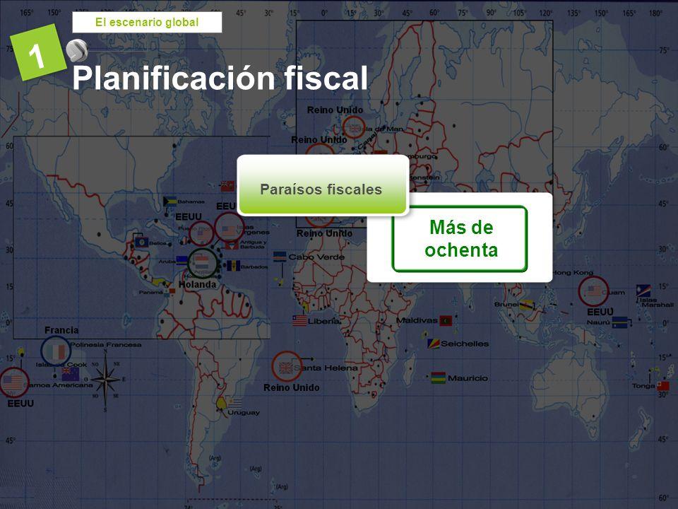 El escenario global 1 Planificación fiscal Más de ochenta Paraísos fiscales