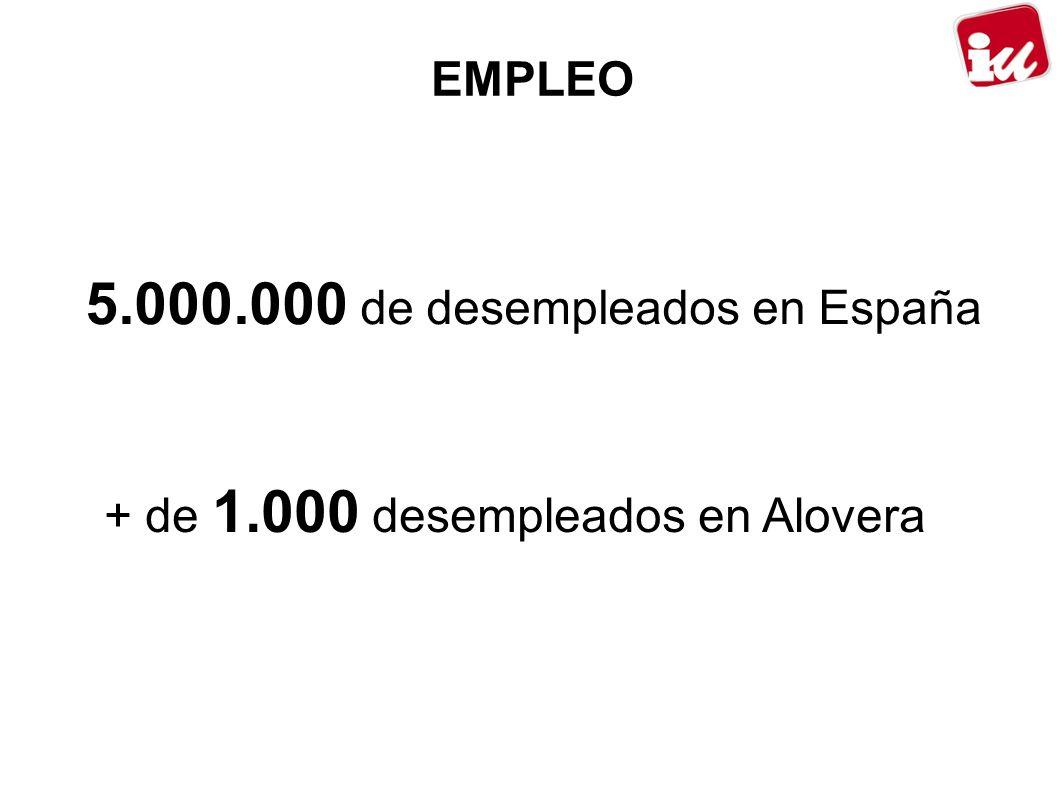 5.000.000 de desempleados en España + de 1.000 desempleados en Alovera