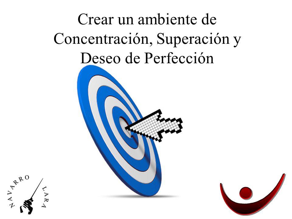 Crear un ambiente de Concentración, Superación y Deseo de Perfección