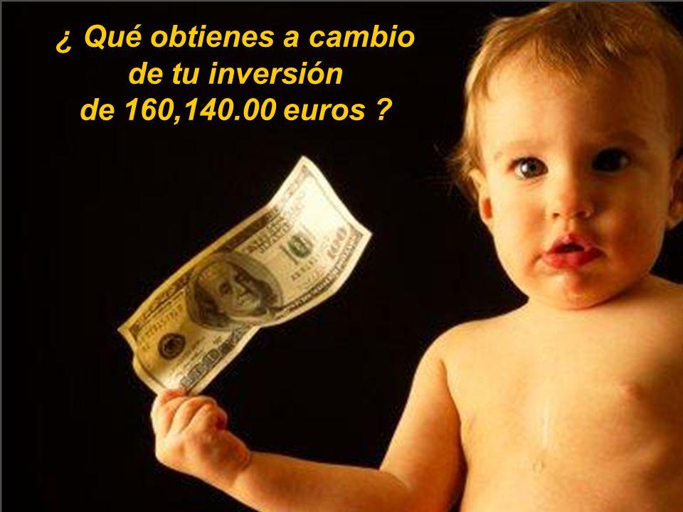 Y nos extraña, que haya quien está dispuesto a invertir, no sólo 164,140.00, sino 320,280.00 o más… La pregunta es..