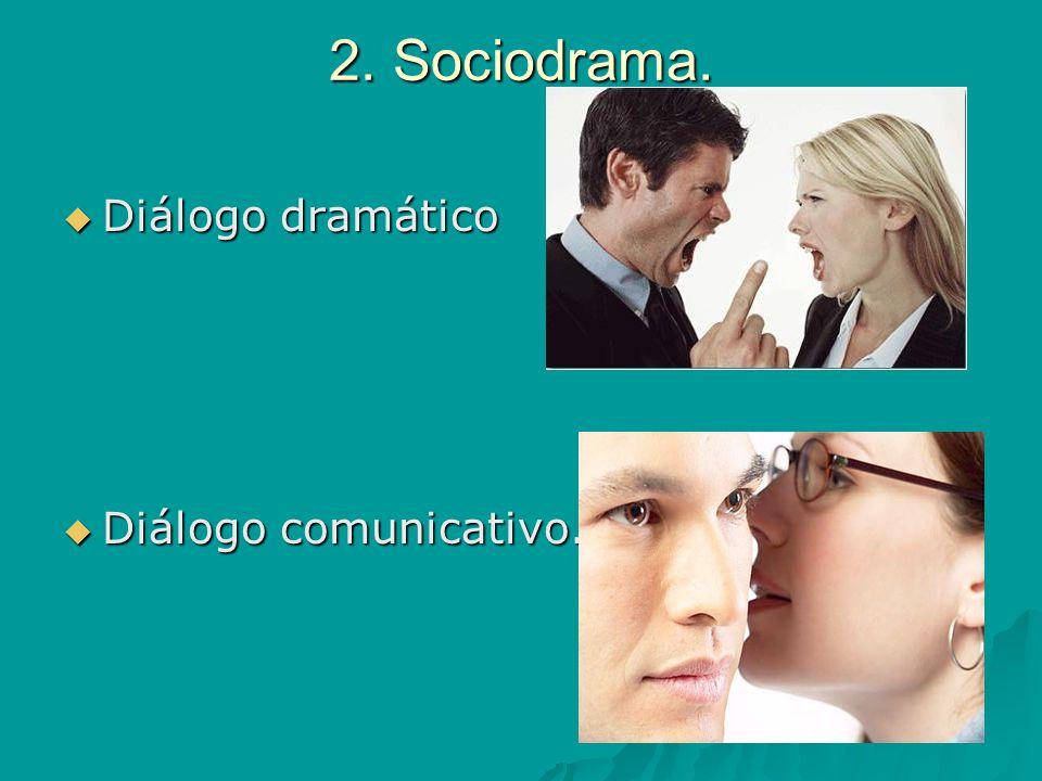 2. Sociodrama. Diálogo dramático Diálogo dramático Diálogo comunicativo. Diálogo comunicativo.
