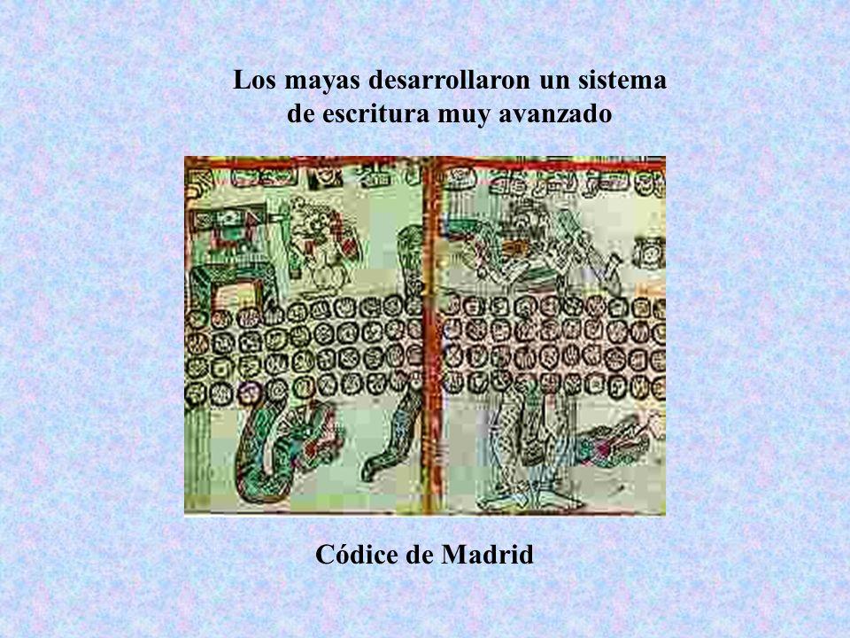 Los mayas desarrollaron un sistema de escritura muy avanzado Códice de Madrid