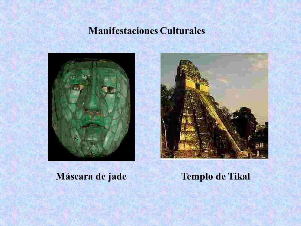 Máscara de jadeTemplo de Tikal Manifestaciones Culturales