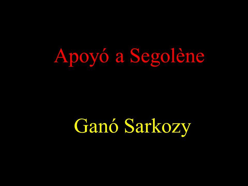 Apoyó a Segolène Ganó Sarkozy