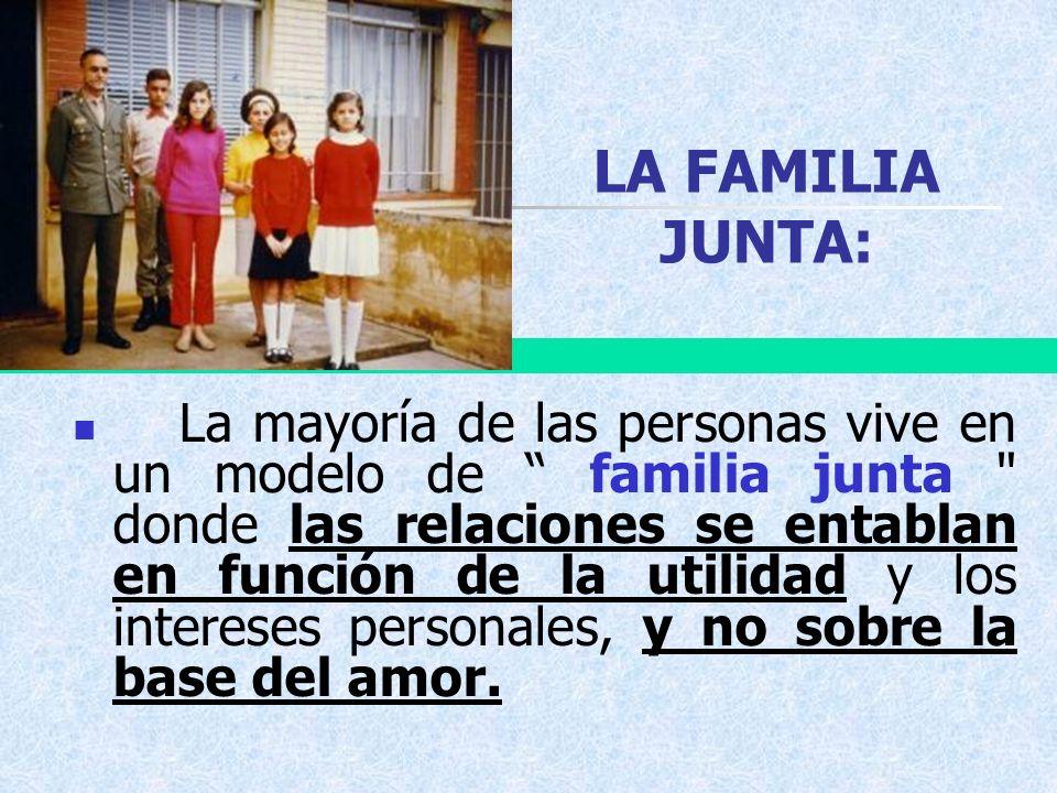 LA FAMILIA JUNTA: La mayoría de las personas vive en un modelo de familia junta