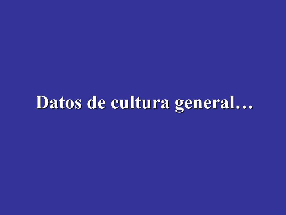 Datos de cultura general…