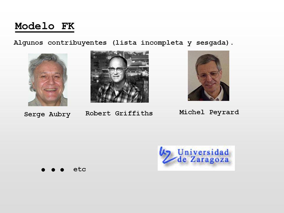 Modelo FK Serge Aubry Algunos contribuyentes (lista incompleta y sesgada). Robert Griffiths Michel Peyrard etc