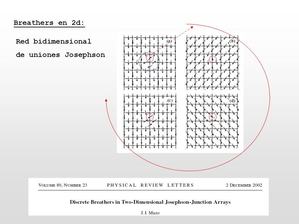 Breathers en 2d: Red bidimensional de uniones Josephson