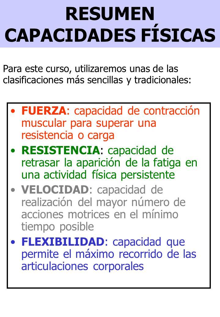 Factores que intervienen en el desarrollo de la condición física Intensidad: cantidad de trabajo efectuada en la unidad de tiempo.