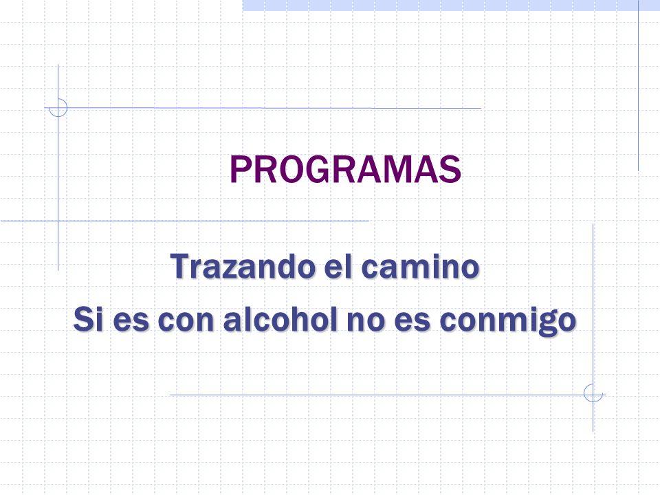 PROGRAMAS Trazando el camino Si es con alcohol no es conmigo