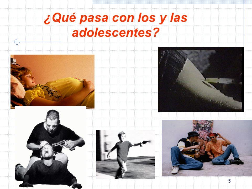 5 ¿Qué pasa con los y las adolescentes?
