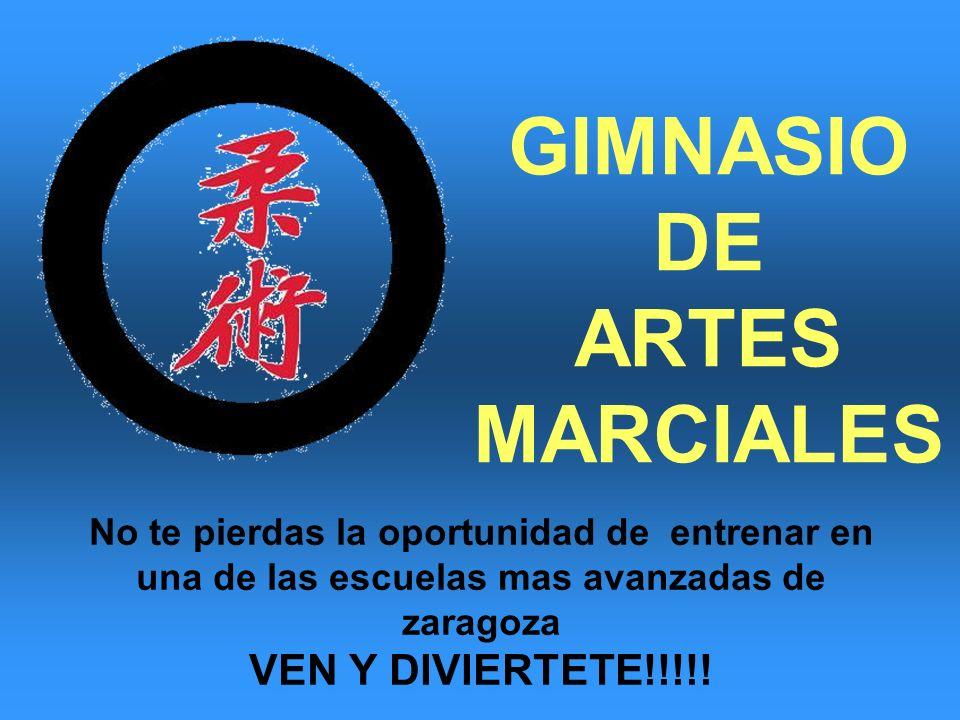 No te pierdas la oportunidad de entrenar en una de las escuelas mas avanzadas de zaragoza VEN Y DIVIERTETE!!!!! GIMNASIO DE ARTES MARCIALES