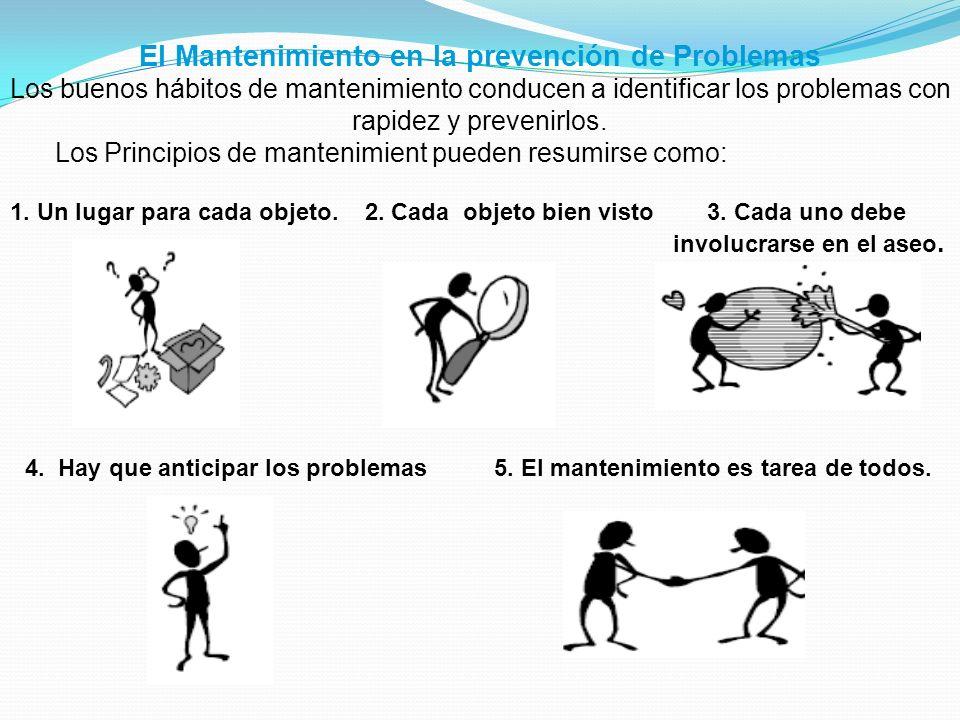 El Mantenimiento en la prevención de Problemas Los buenos hábitos de mantenimiento conducen a identificar los problemas con rapidez y prevenirlos. Los