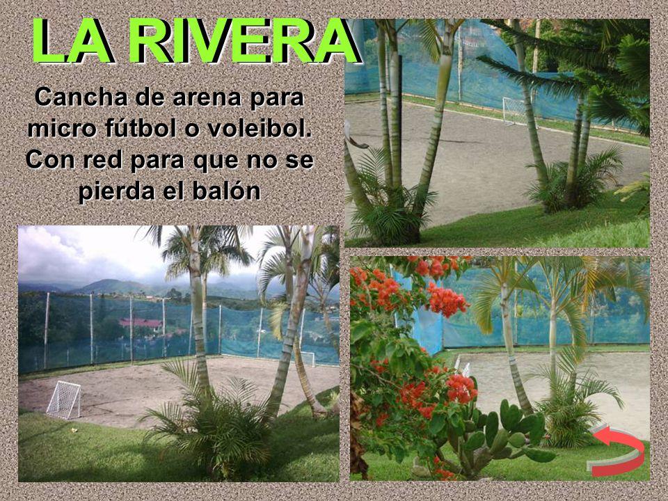 Cancha de arena para micro fútbol o voleibol. Con red para que no se pierda el balón LA RIVERA