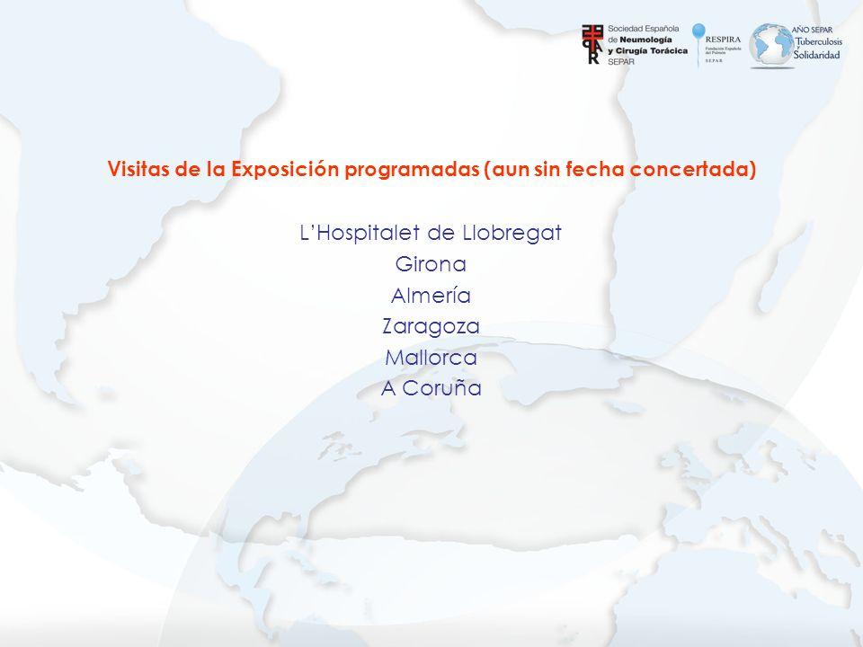 LHospitalet de Llobregat Girona Almería Zaragoza Mallorca A Coruña Visitas de la Exposición programadas (aun sin fecha concertada)