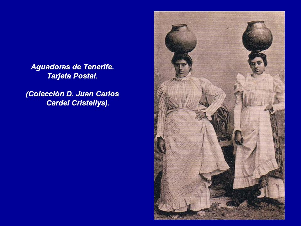 Aguadoras de Tenerife. Tarjeta Postal. (Colección D. Juan Carlos Cardel Cristellys).