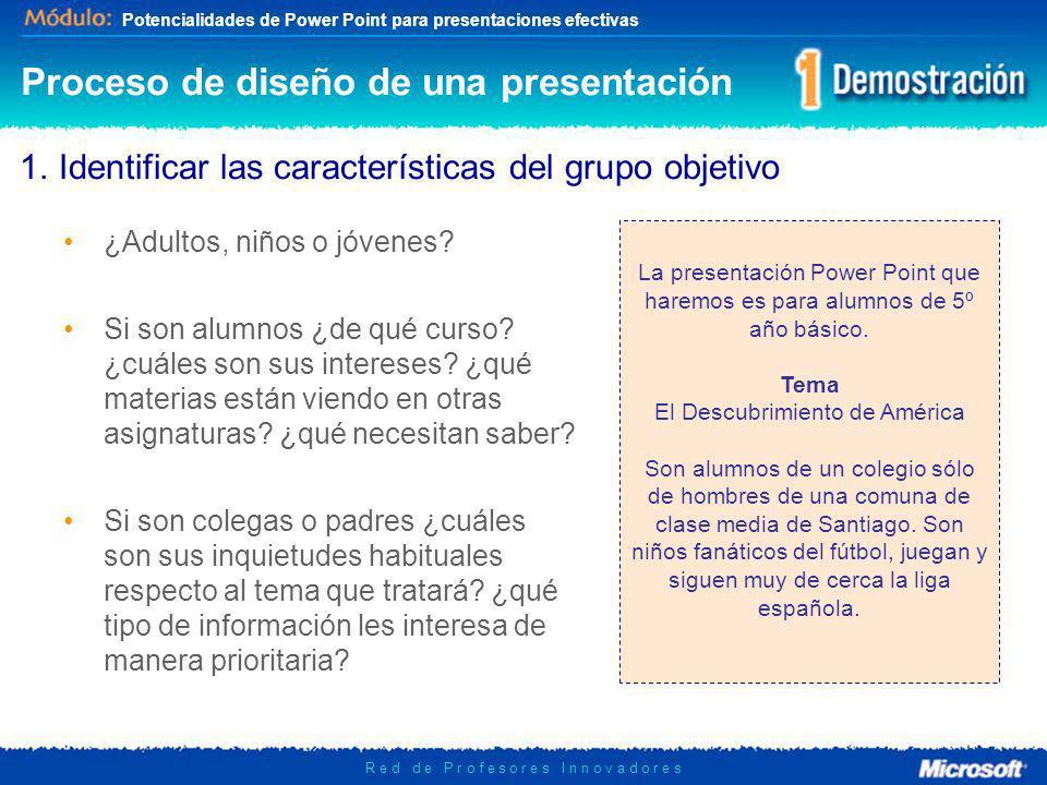 Potencialidades de Power Point para presentaciones efectivas R e d d e P r o f e s o r e s I n n o v a d o r e s 2.