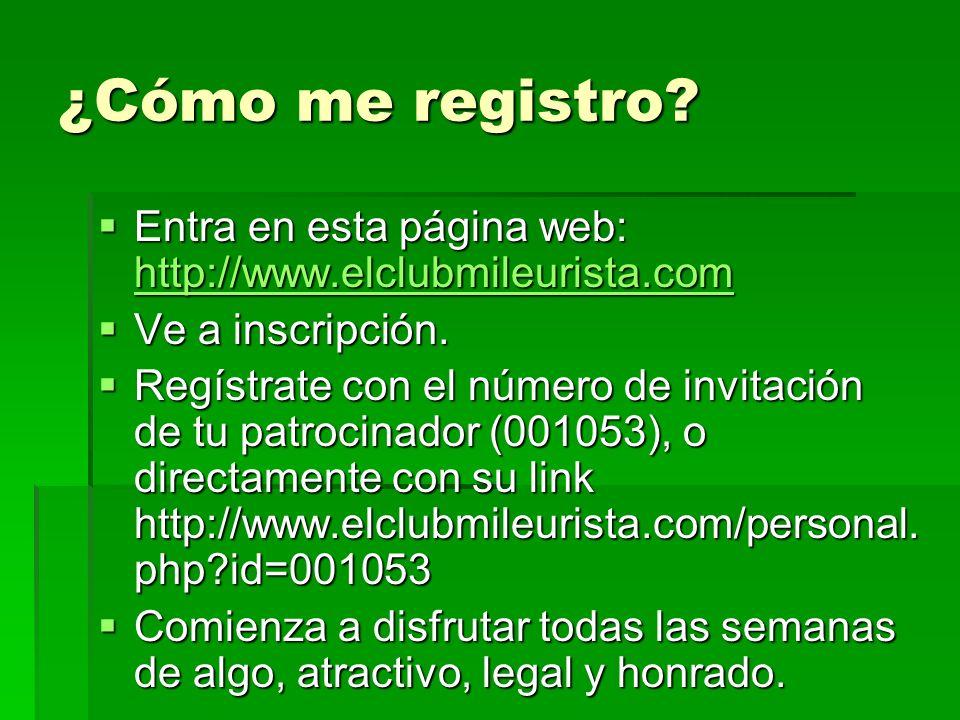 ¿Cómo me registro? Entra en esta página web: http://www.elclubmileurista.com Entra en esta página web: http://www.elclubmileurista.com http://www.elcl
