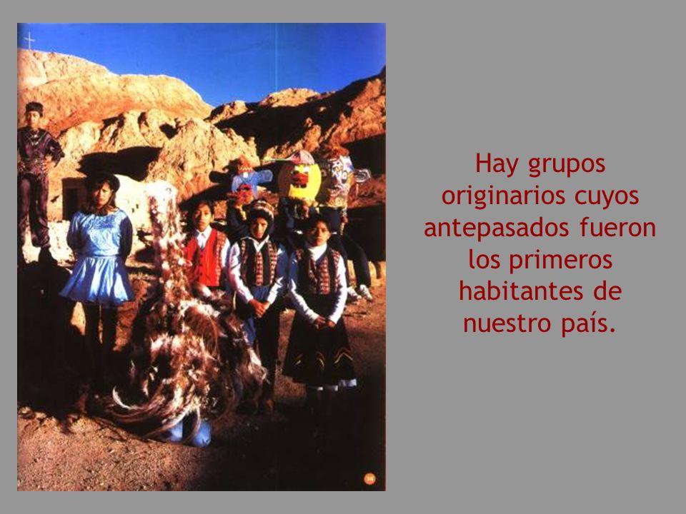 Hay grupos originarios cuyos antepasados fueron los primeros habitantes de nuestro país.
