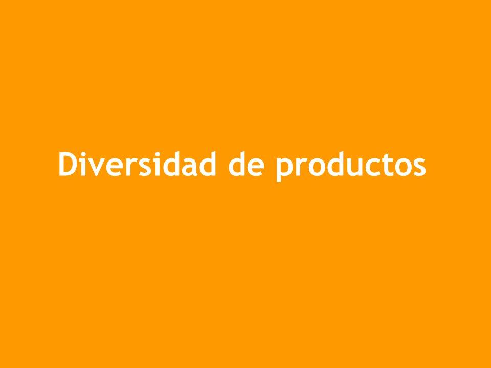 Diversidad de productos