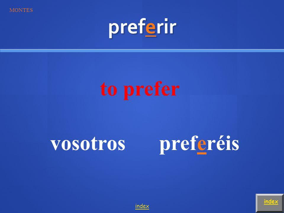 preferir to prefer vosotrospreferéis index MONTES index
