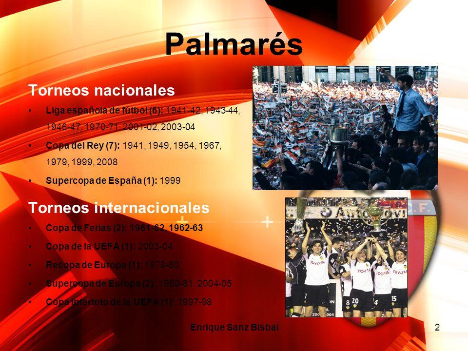 2 Palmarés Torneos nacionales Liga española de fútbol (6): 1941-42, 1943-44, 1946-47, 1970-71, 2001-02, 2003-04 Copa del Rey (7): 1941, 1949, 1954, 19