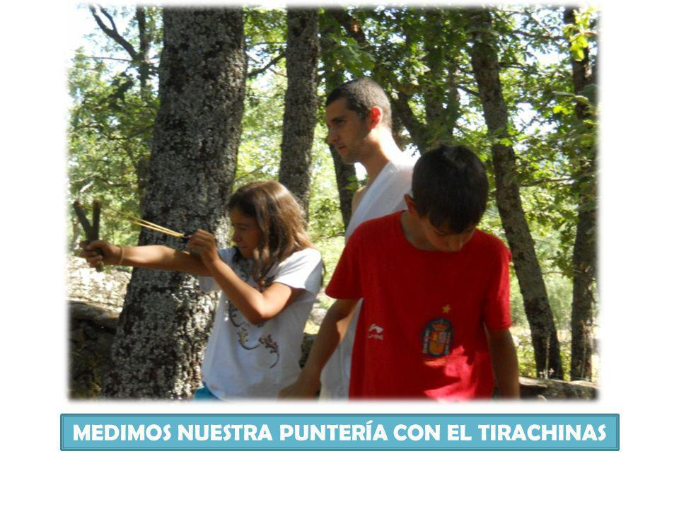 MEDIMOS NUESTRA PUNTERÍA CON EL TIRACHINAS