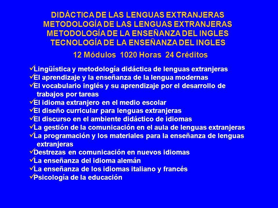 Lingüística y metodología didáctica de lenguas extranjeras El aprendizaje y la enseñanza de la lengua modernas El vocabulario inglés y su aprendizaje