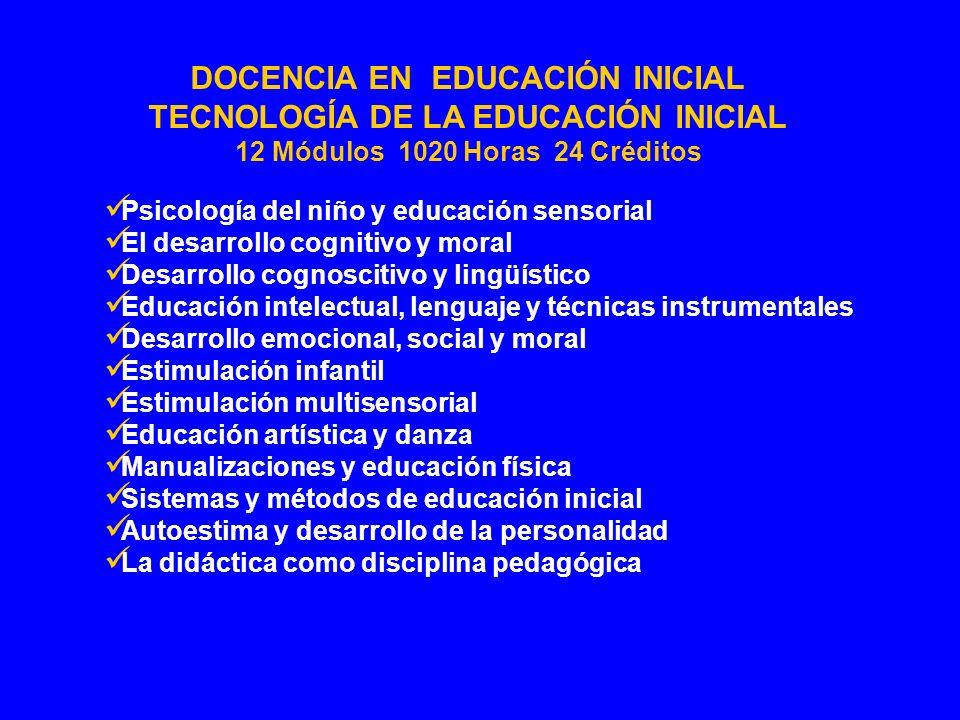 Psicología del niño y educación sensorial El desarrollo cognitivo y moral Desarrollo cognoscitivo y lingüístico Educación intelectual, lenguaje y técn