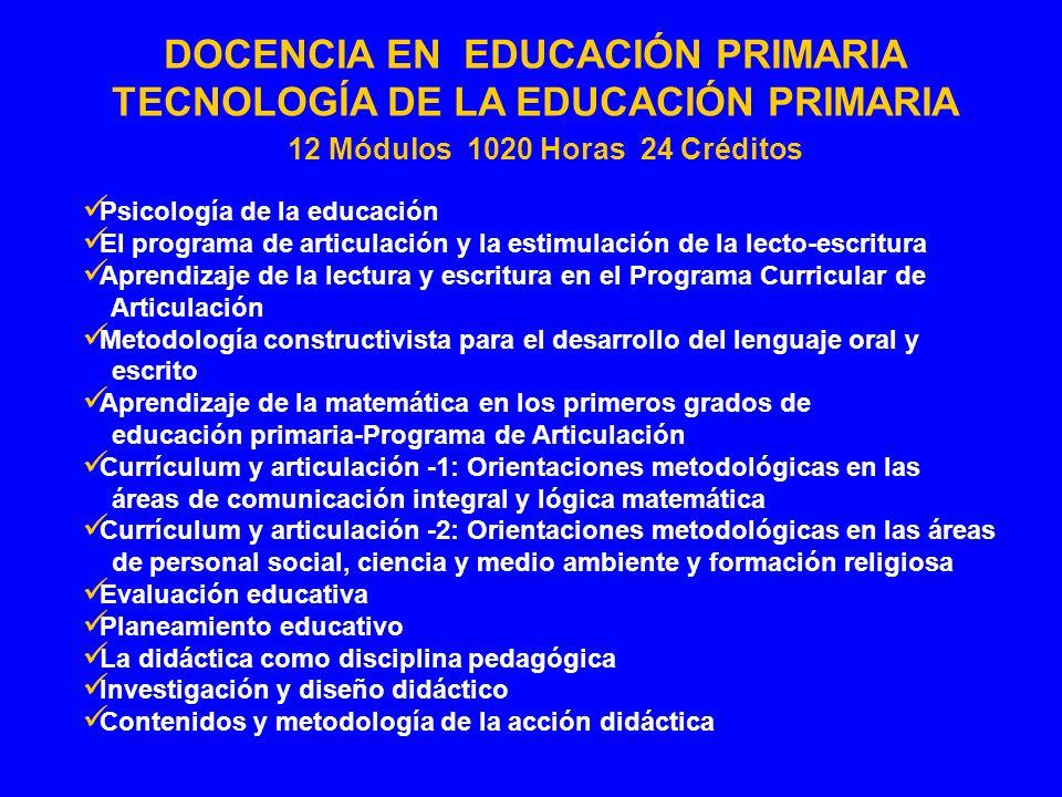 Psicología de la educación El programa de articulación y la estimulación de la lecto-escritura Aprendizaje de la lectura y escritura en el Programa Cu