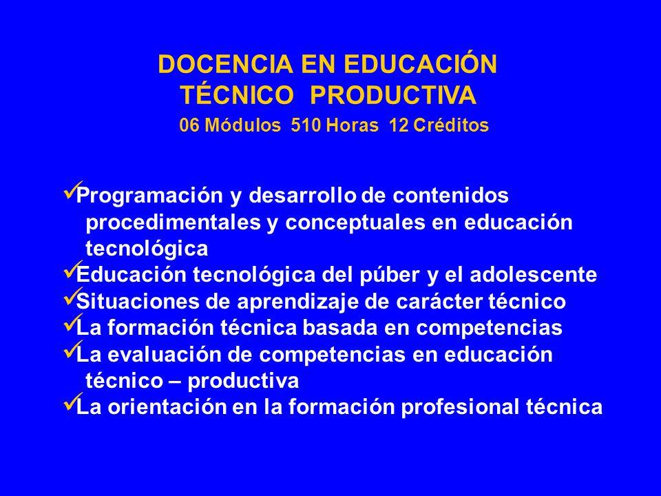 Programación y desarrollo de contenidos procedimentales y conceptuales en educación tecnológica Educación tecnológica del púber y el adolescente Situa