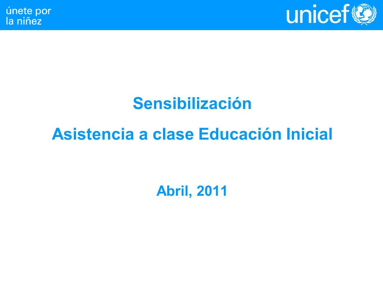 Sensibilización Asistencia a clase Educación Inicial Abril, 2011