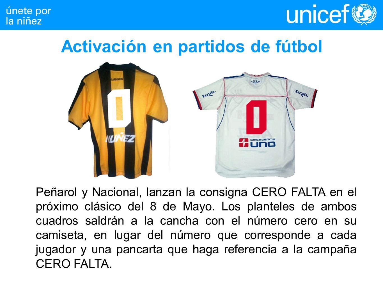 Peñarol y Nacional, lanzan la consigna CERO FALTA en el próximo clásico del 8 de Mayo. Los planteles de ambos cuadros saldrán a la cancha con el númer