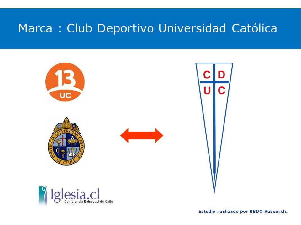 Estudio realizado por BBDO Research. Marca : Club Deportivo Universidad Católica
